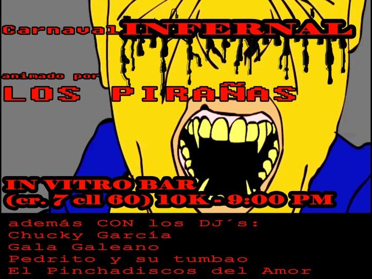 Flyer de Los Pirañas