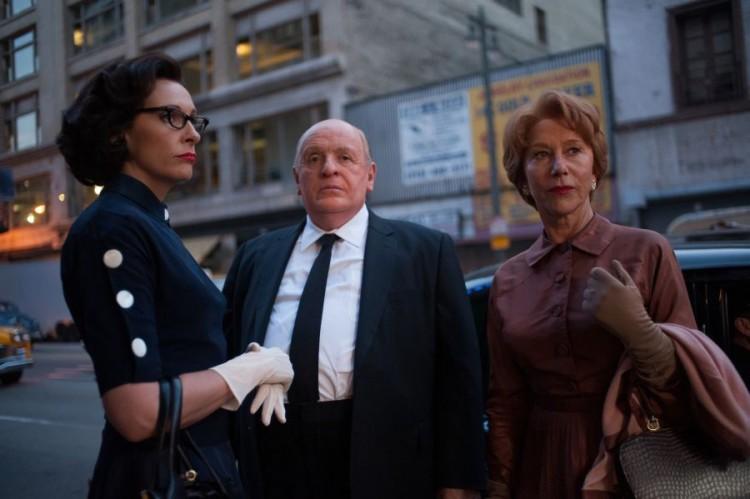 Toni Collette, Anthony Hopkins y Hellen Mirren en 'Hitchcock'. Fotografía tomada de www.theepochtimes.com -