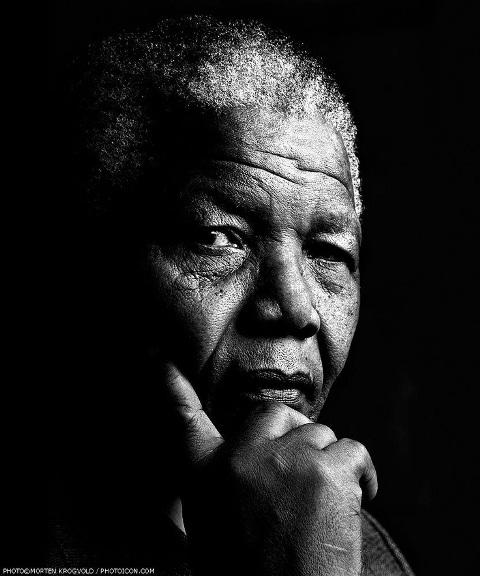 Nelson Mandela. Fotografía  pinterest.com
